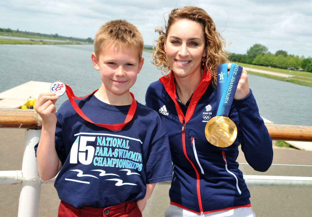 Max Tulloch and Amy Williams MBE