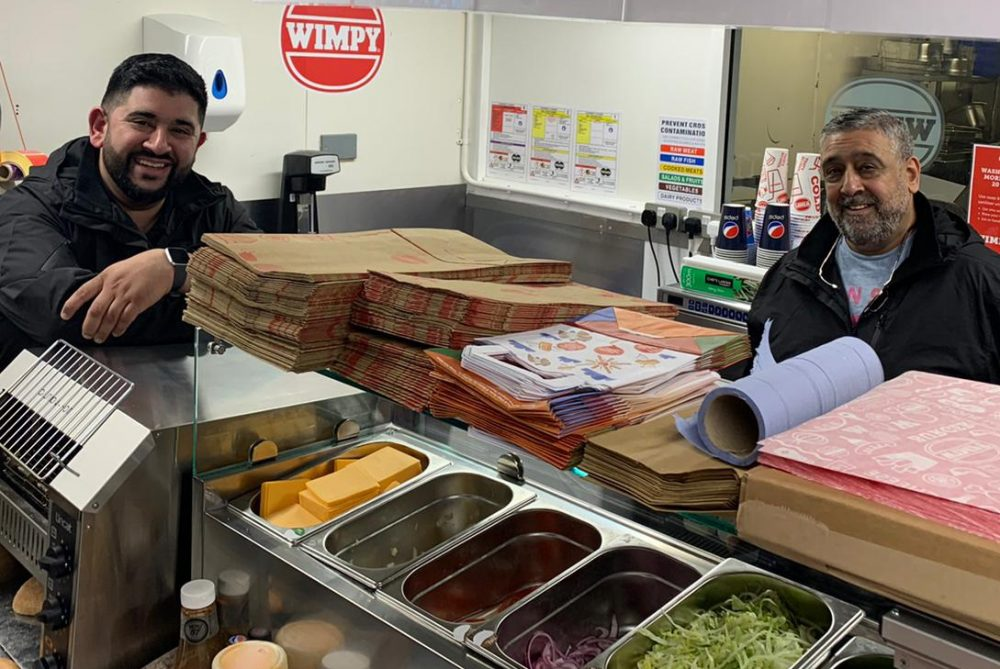 Wimpy Slough Dark Kitchen Franchisees Del Ghosal (l) and Herjit Ghosal